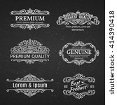 vintage vector banners labels... | Shutterstock .eps vector #414390418
