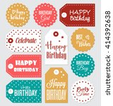set of birthday gift tags... | Shutterstock .eps vector #414392638