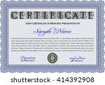 certificate template eps10 jpg...   Shutterstock .eps vector #414392908