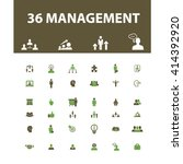 management icons  | Shutterstock .eps vector #414392920