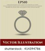 diamond ring vector symbol   Shutterstock .eps vector #414394786