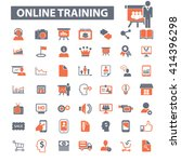 online training icons  | Shutterstock .eps vector #414396298