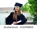 A Beautiful Graduate Girl In...