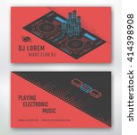 business card for dj or music... | Shutterstock .eps vector #414398908