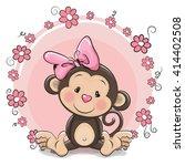 greeting card cute cartoon...   Shutterstock .eps vector #414402508