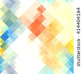 abstract colorful pixel... | Shutterstock . vector #414404164