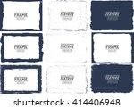 grunge frame texture set  ... | Shutterstock .eps vector #414406948