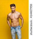 sexy male model | Shutterstock . vector #414407950
