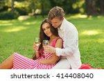young beautiful caucasian... | Shutterstock . vector #414408040