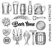 Beer And Snack Design Elements...