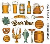 beer and snack design elements... | Shutterstock .eps vector #414411790