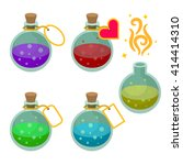magic potion bottles with tags. ...