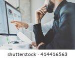 photo working process.finance... | Shutterstock . vector #414416563