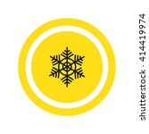 snowflake icon | Shutterstock .eps vector #414419974