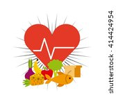 healthy lifestyle design    Shutterstock .eps vector #414424954