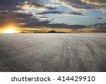 sunset asphalt asphalt tire...   Shutterstock . vector #414429910
