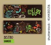 cafe banner template design... | Shutterstock .eps vector #414430156