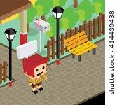 cartoon life isometric | Shutterstock .eps vector #414430438