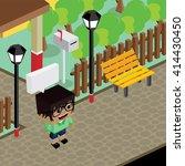 cartoon life isometric | Shutterstock .eps vector #414430450