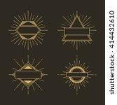 sunburst frame design  | Shutterstock .eps vector #414432610