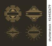 sunburst frame design  | Shutterstock .eps vector #414432679