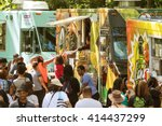 atlanta  ga   april 16  a crowd ... | Shutterstock . vector #414437299