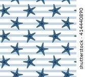 seamless marine pattern ... | Shutterstock .eps vector #414440890