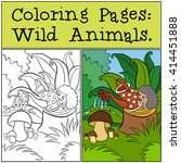 coloring pages  wild animals.... | Shutterstock .eps vector #414451888