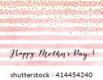 pretty happy mother's day card... | Shutterstock .eps vector #414454240
