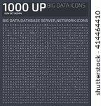big icons big data database... | Shutterstock .eps vector #414464410