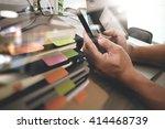 website designer working... | Shutterstock . vector #414468739