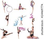 photo collage. artistic gymnast ... | Shutterstock . vector #414469774
