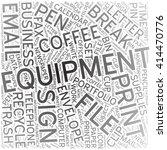 equipment  word cloud art... | Shutterstock .eps vector #414470776