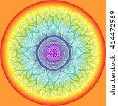mandala  geometric sign symbol... | Shutterstock .eps vector #414472969