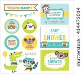 baby arrival and shower... | Shutterstock .eps vector #414473014