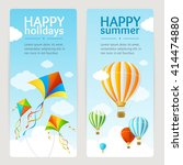 summer holiday card set with... | Shutterstock .eps vector #414474880