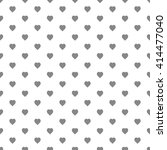 black seamless heart pattern | Shutterstock .eps vector #414477040