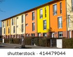 Small photo of Colorful serial housing seen near Berlin in Germany