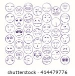 set of smiles  collection of... | Shutterstock .eps vector #414479776