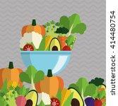 organic food design. healthy... | Shutterstock .eps vector #414480754