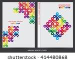 annual report cover design | Shutterstock .eps vector #414480868