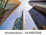 hong kong skyscraper of bank of ... | Shutterstock . vector #414485368