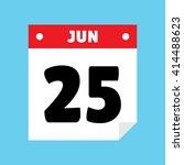 calendar icon flat jun 25