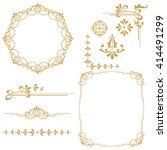 vintage set. floral elements... | Shutterstock .eps vector #414491299