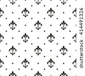 pattern with royal lily.... | Shutterstock .eps vector #414491326