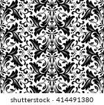 damask seamless floral pattern. ... | Shutterstock .eps vector #414491380