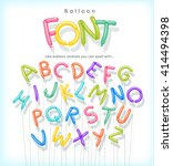 vector alphabet letters shaped... | Shutterstock .eps vector #414494398