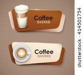 set of vector banners with... | Shutterstock .eps vector #414501754