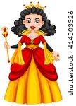 queen in red and yellow dress... | Shutterstock .eps vector #414503326