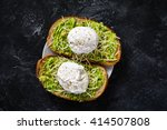 Two Toasts With Mashed Avocado...